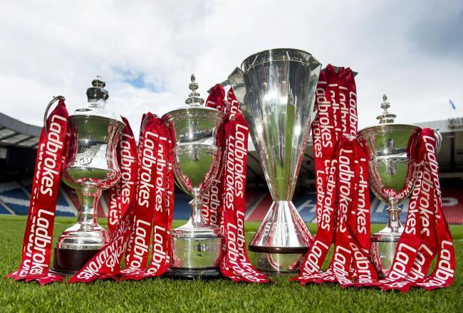 The Ladbrokes league trophies.