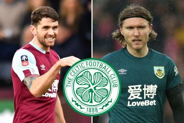 Burnley and Ireland duo Robbie Brady and Jeff Hendrick linked with Celtic