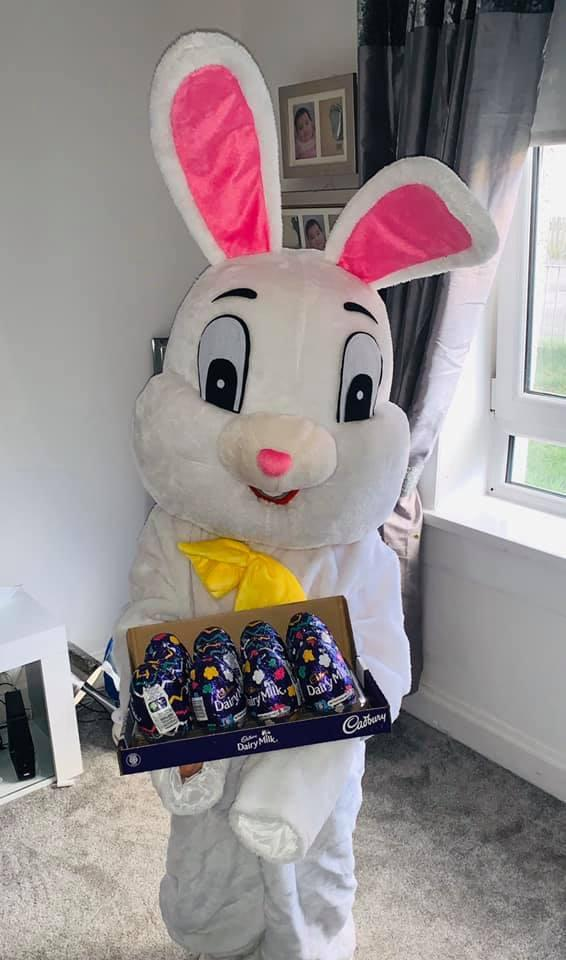 Rainbow Bunny Aims To Deliver 1300 Easter Eggs To Glasgow Children By Foot Glasgow Times