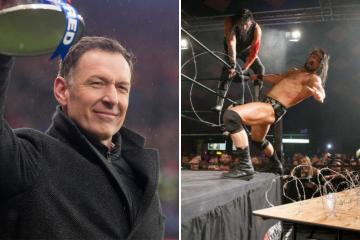 Celtic hero Chris Sutton hits WWE superstar Drew McIntyre with Rangers jibe after WrestleMania victory