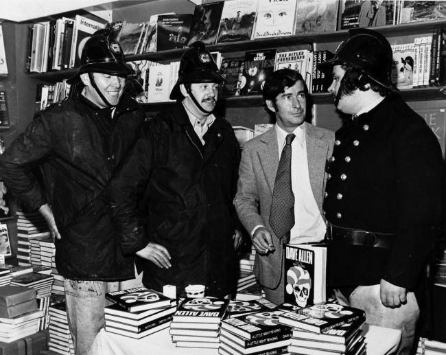 Dave Allen in Glasgow for a book signing in November 1974.