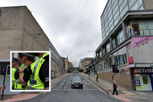 A man was attacked on Renfrew Street leaving him a serious facial injury