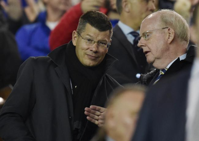 SPFL chief executive Neil Doncaster, left, with chairman Muroch MacLennan.