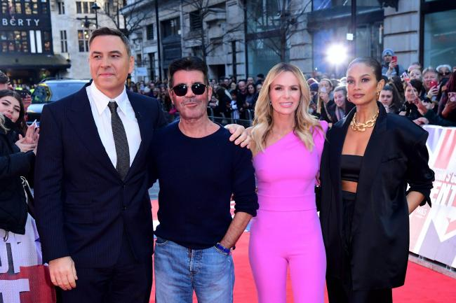 David Walliams, Simon Cowell, Amanda Holden and Alesha Dixon