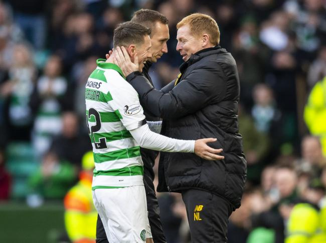 Celtic manager Neil Lennon, right, with Callum McGregor. Photo by Craig Williamson/SNS Group.