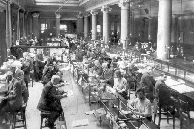 The valuation offices in Glasgow City Chambers, 1925. Picture: Glasgow City Archives