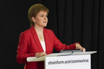 Nicola Sturgeon provides update on when supporters can return to stadia