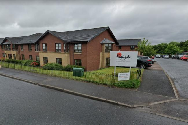 The care home is on Old Edinburgh Road, in Uddingston