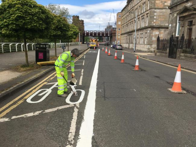 Clyde side's new cycle lane