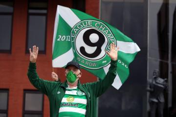 In pictures: Celtic fans celebrate league win at Parkhead