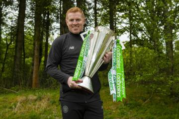 In pictures: Celtic manager Neil Lennon celebrates nine-in-a-row