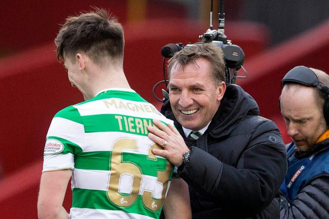 Brendan Rodgers hopeful of Celtic reunion with Arsenal's Kieran Tierney linked with Leicester City