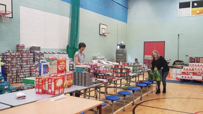 Lourdes Secondary School has been helping vulnerable pupils and families by handing out food parcels and activity packs during lockdown.