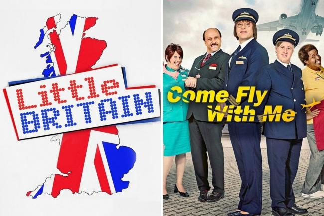 Why Little Britain and Come Fly With Me were removed from streaming services. Pictures: BBC