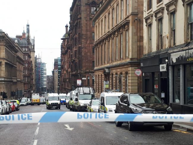 West George Street attack not being treated as terror incident, police confirm