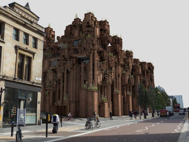 Architect Barry Wark hopes his design will spark debate about Glasgow's architectural heritage