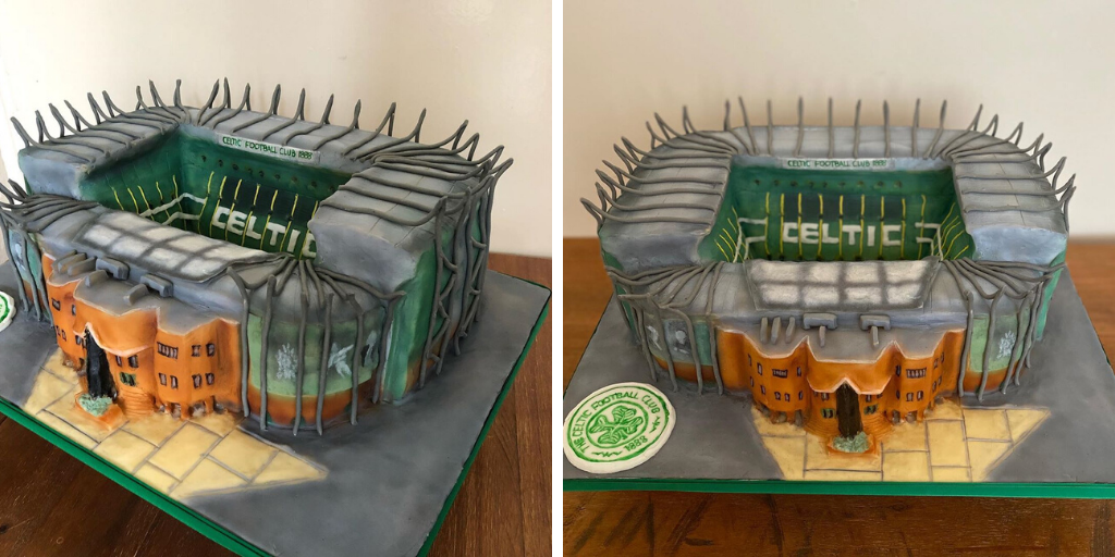 Talented woman transforms Celtic Park into 'amazing' cake