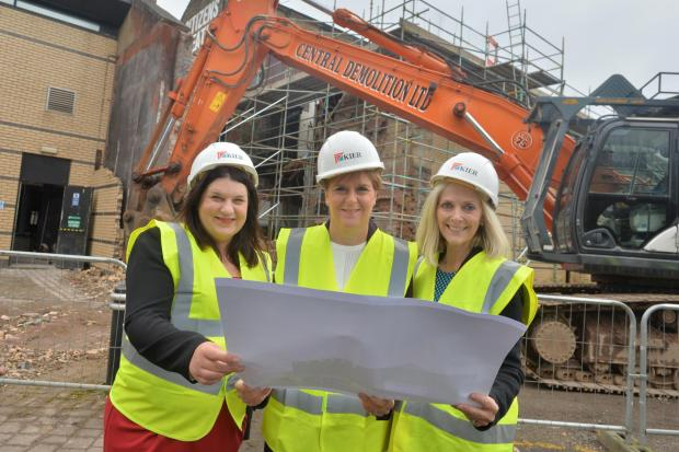 Glasgow Times: Council leader Susan Aiken, First Minister Nicola Sturgeon and Chair of the Citizens Theatre, April Chamberlain launch the redevelopment of the venue in September 2019.
