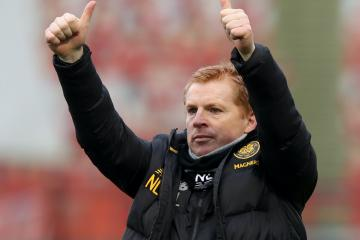 "Neil Lennon left ""rubbing his eyes"" as James Forrest nets with a rare header to clinch vital Celtic win"
