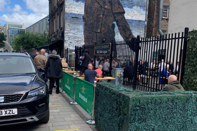 In pictures: Hootenany's beer garden queued out for lunchtime drinks