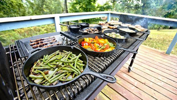 Glasgow Times: A good cast iron (or four) can help you cook up vegetable and more on the BBQ. Credit: Amazon / Lodge