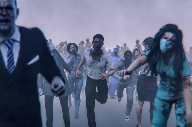 Hordes of angry walking dead zombies..