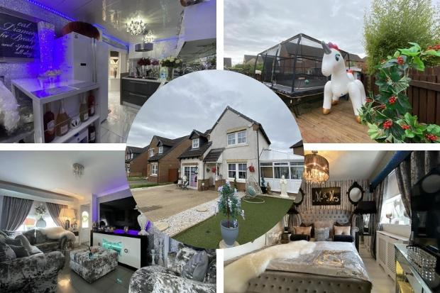 Inside the glitzy Bellshill home on sale for just under a quarter of a million