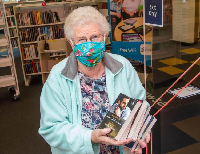 """Overjoyed"" 77-year-old first in queue for Renfrewshire library reopening"