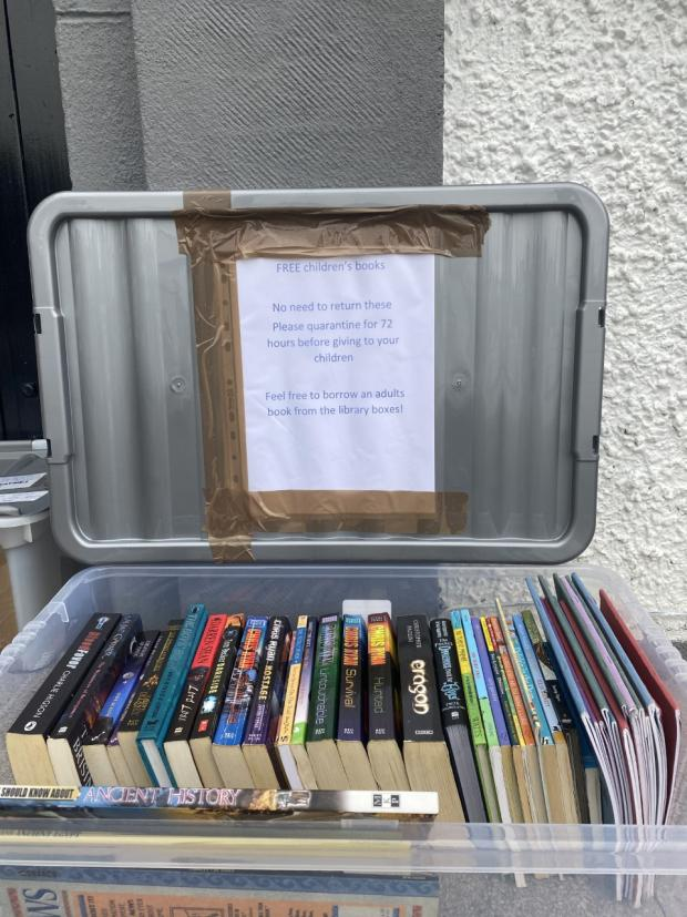 Glasgow Times: One resident donated 23 children's books bringing the total number in Freya's collection to 100