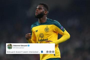 Celtic's Odsonne Edouard fires back at McAvennie over 'disinterested' claims after hat-trick