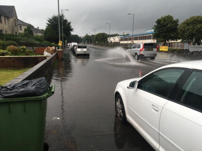 Nitshill Road has been left flooded, with residents saying that it is a common occurrence.