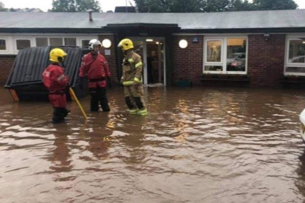 Children had to be evacuated from the nursery due to the flooding