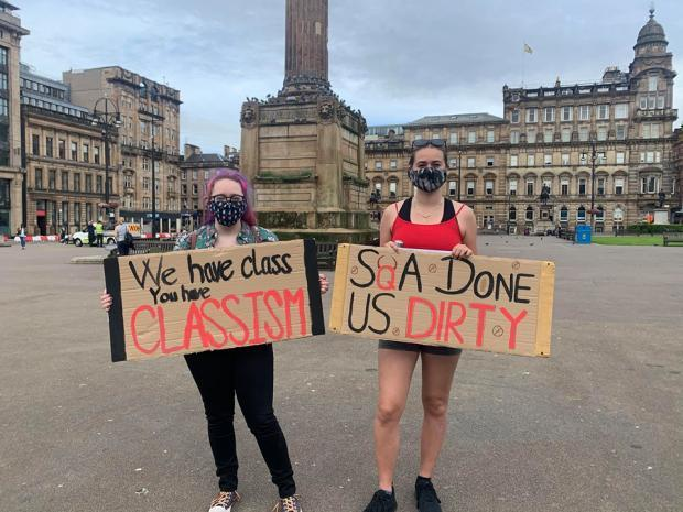 Pupils at a similar protest in George Square last year