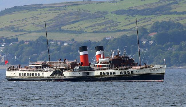 PS Waverley on trials on the Clyde off Greenock 2020.