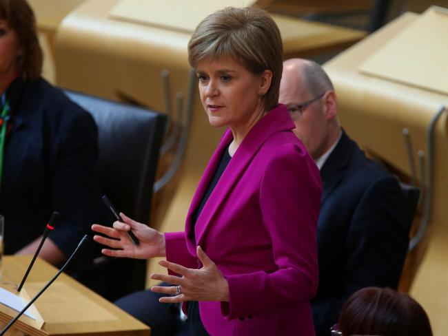 First Minister Nicola Sturgeon at Holyrood wednesday to make a statement following the SNP General Election result.