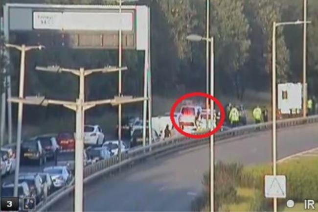 Clydeside Expressway: Road closed as emergency services rush to crash near SECC