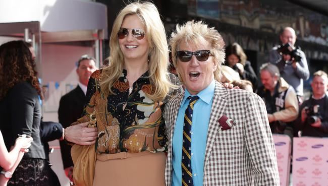File photo dated 12/3/2015 of Rod Stewart and Penny Lancaster arriving for The Prince's Trust and Samsung Celebrate Success Awards, at the Odeon, Leicester Square. Lancaster has revealed that her husband ditched his trademark tight trousers on doctor&