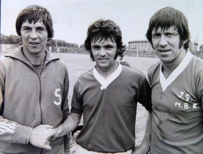 Tom Forsyth with Davie Cooper and John Greig