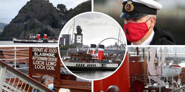 In pictures: Waverley paddle steamer cruises on Clyde