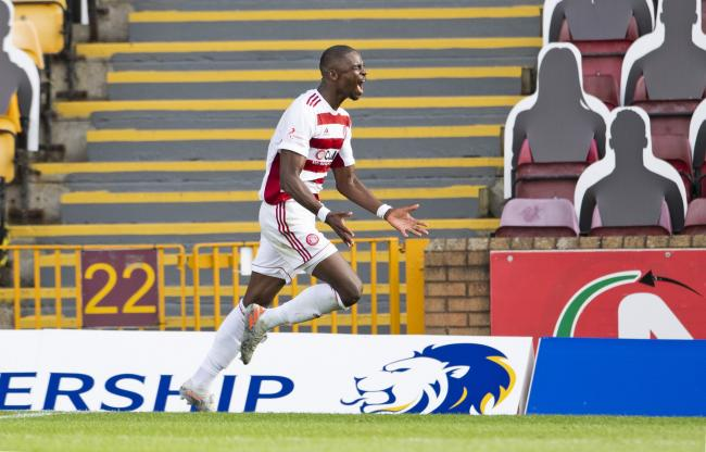 Hakeem Odoffin, pictured in action against Motherwell, stole the headlines with a late leveller