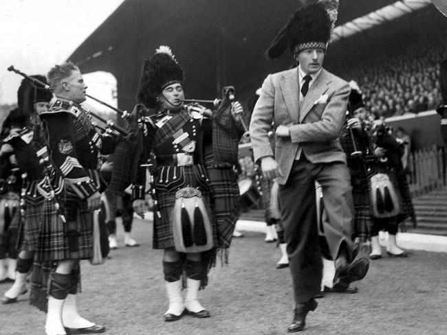 Danny performing at the 1950 Cup Final.
