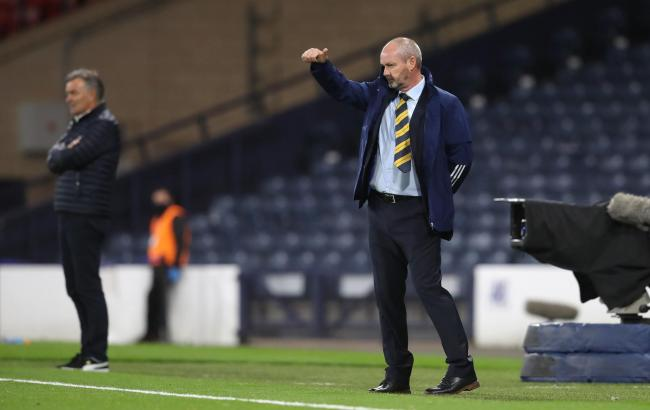 Scotland manager Steve Clarke on the touchline at Hampden. Photo: Andrew Milligan/PA Wire.