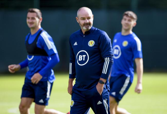 Scotland manager Steve Clarke during a Scotland training session at Oriam. Photo by Craig Williamson/SNS Group.