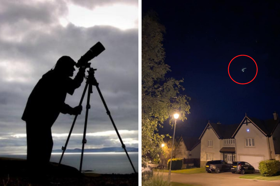 UFO mystery as 'craft' captured above town by schoolgirl