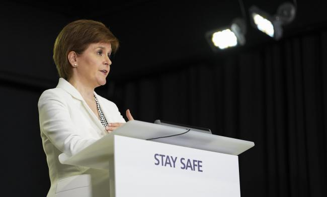 First Minister Nicola Sturgeon will unveil her five-tier strategy