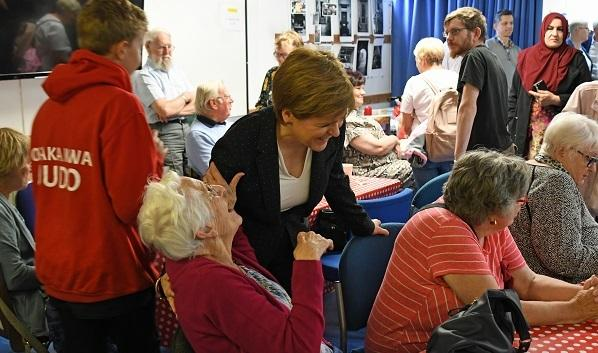 First Minister Nicola Sturgeon recently visited the Nan McKay Hall.