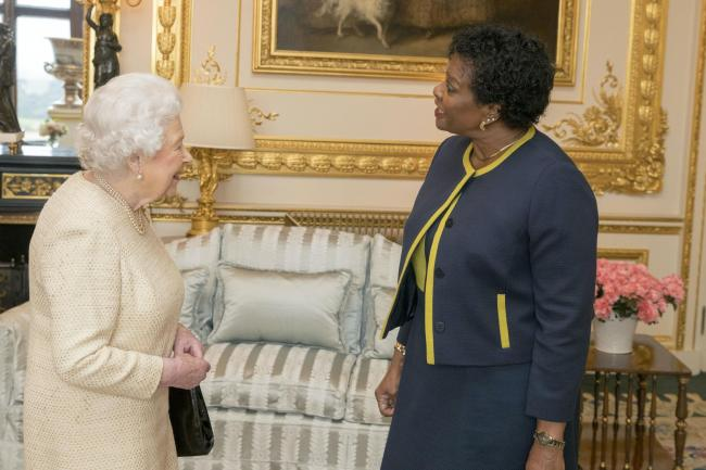 The Queen and Sandra Mason