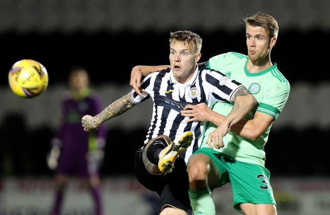Lee Erwin impressed as he led the line for St Mirren against Celtic.