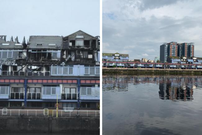 Work starts to rebuild Lancefield Quay flats destroyed in fire after partial demolishment
