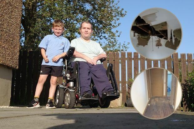 Multiple break-ins and bogus workmen have left Stuart Coll and eight-year-old Lewis living apart